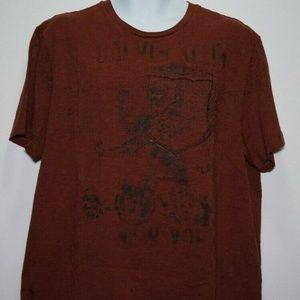 CALVIN KLIEN Men's XL Burgundy Rust T-Shirt